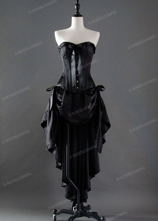 Black High-low Gothic Prom Dress D1037 - D-RoseBlooming
