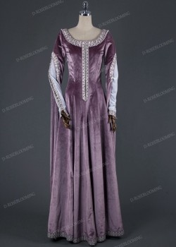 Exquisite Purple Medieval Dress D2011
