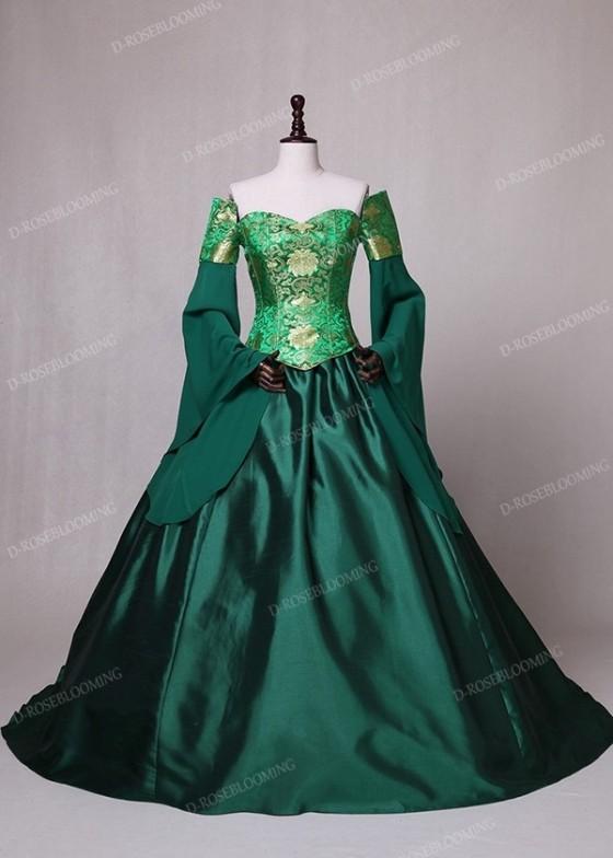 Green Fancy Theatrical Victorian Dress D3002