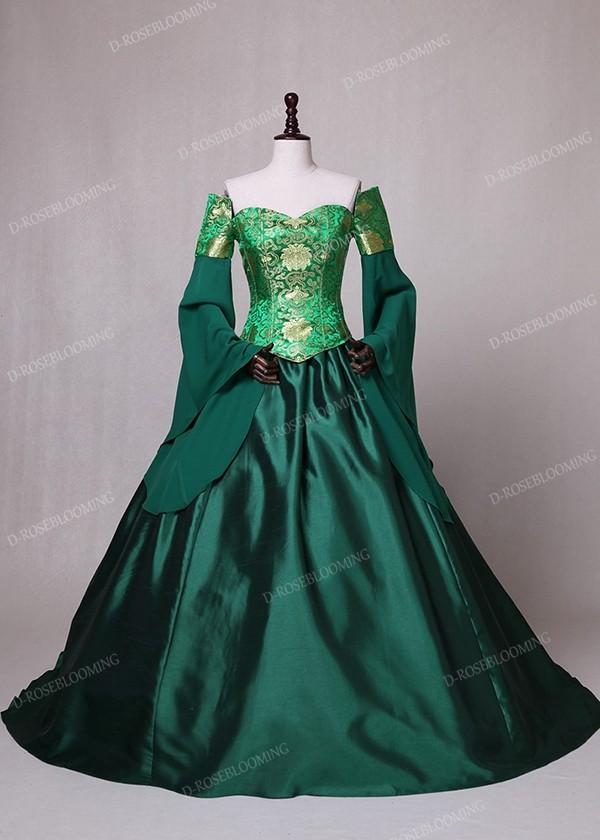 Green Fancy Theatrical Victorian Dress D3002 D Roseblooming