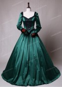 Green Ball Princess Victorian Masquerade Dress D3005