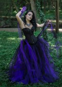 Black Purple Gothic Long Prom Dress D1018