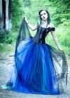 Black Blue Gothic Long Prom Dress D1029
