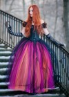 Black Multicolor Gothic Ball Gown Prom Dress D1026