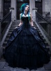 Black Gothic Long Prom Dress D1039