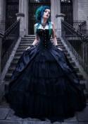 Black Gothic Long Prom Dress D1039