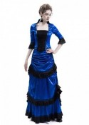 Blue Victorian Bustle Dress D3026