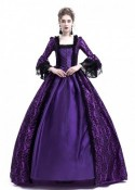 Purple Ball Gown Victorian Masquerade Dress D3017