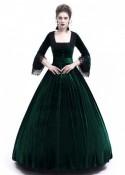 Green Velvet Ball Gown Victorian Gown D3009