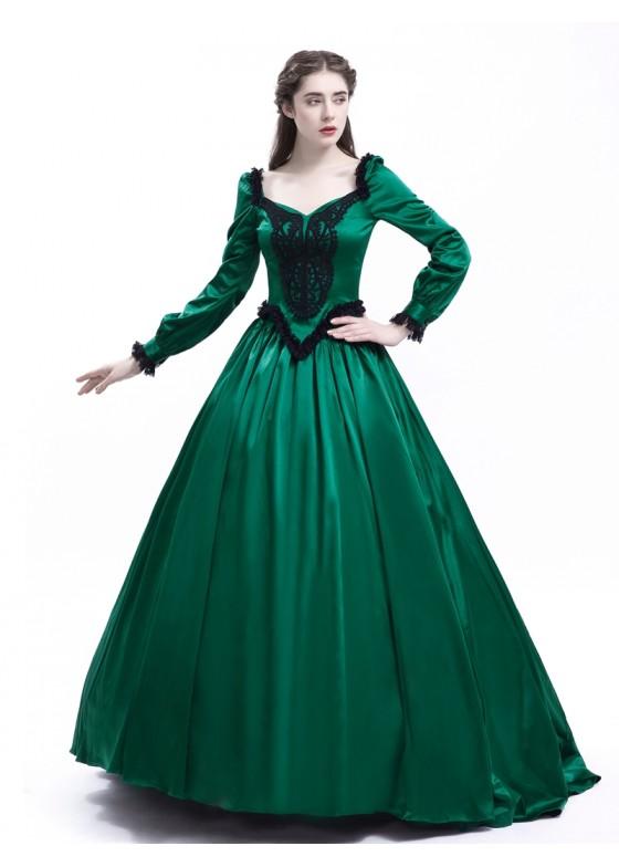 Green Ball Princess Victorian Masquerade Dress D3005