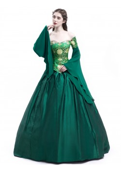 Green Fancy Theatrical Victorian Dress D3002