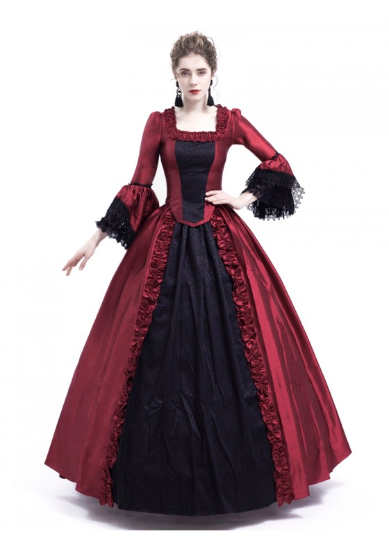 Red Ball Gown Theatrical Victorian Gown D3023