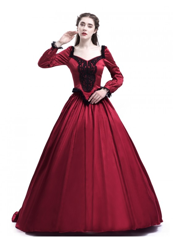 Red Ball Princess Victorian Masquerade Dress D3022