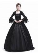Black Flower Masquerade Gothic Victorian Dress D3021
