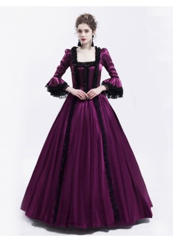 Purple Marie Antoinett Victorian Dress D3012