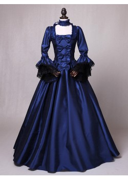 Blue Marie Antoinette Princess Victorian Dress D3013