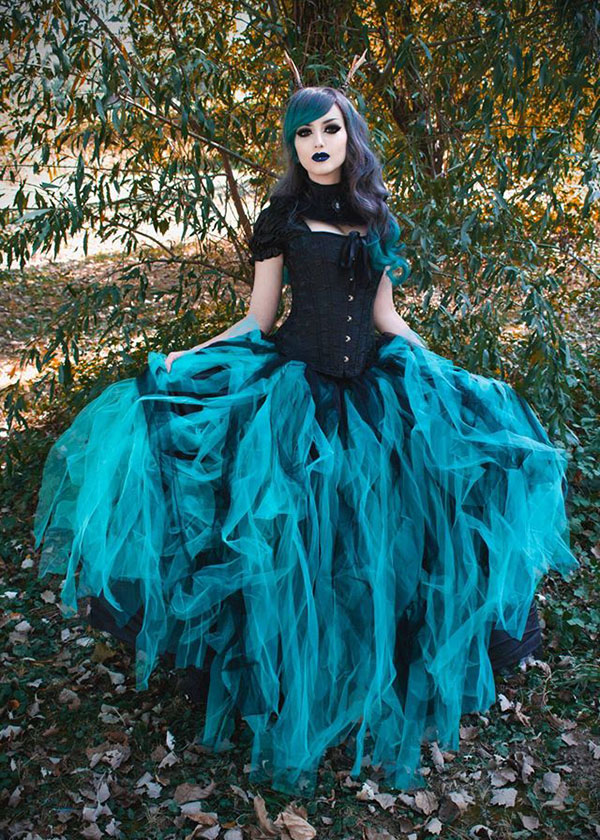 Gothic Long Dresses & Gowns, Formal Gothic Dresses - D-RoseBlooming
